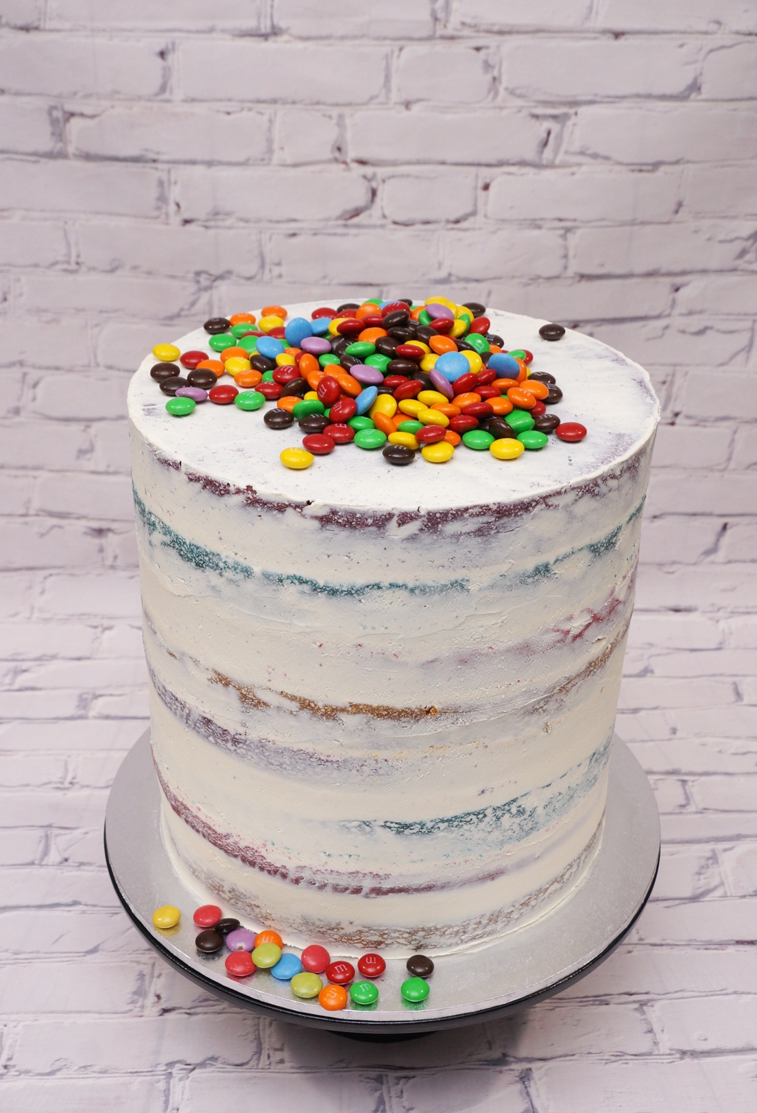 Rainbow Layer cake with M&M's 2