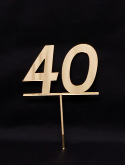 Number 40 - Gold mirror