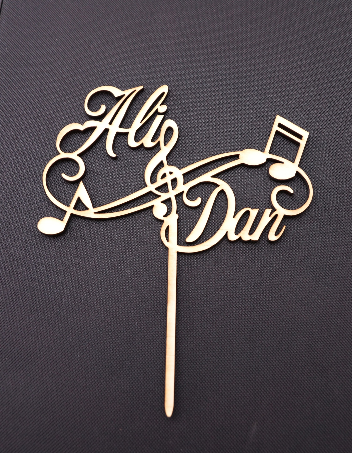 Music Notes Wedding Cake Topper