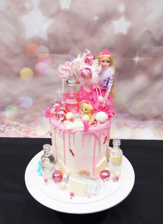 Barbie Alcohol Cake 2