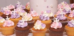 Christening Cake with flower cross 7