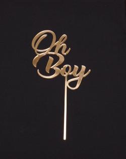 Gold Mirror Oh Boy Topper