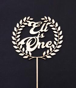 Wooden Wreath Eli is One