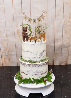 2 Tier Semi Naked with greenery and Fore