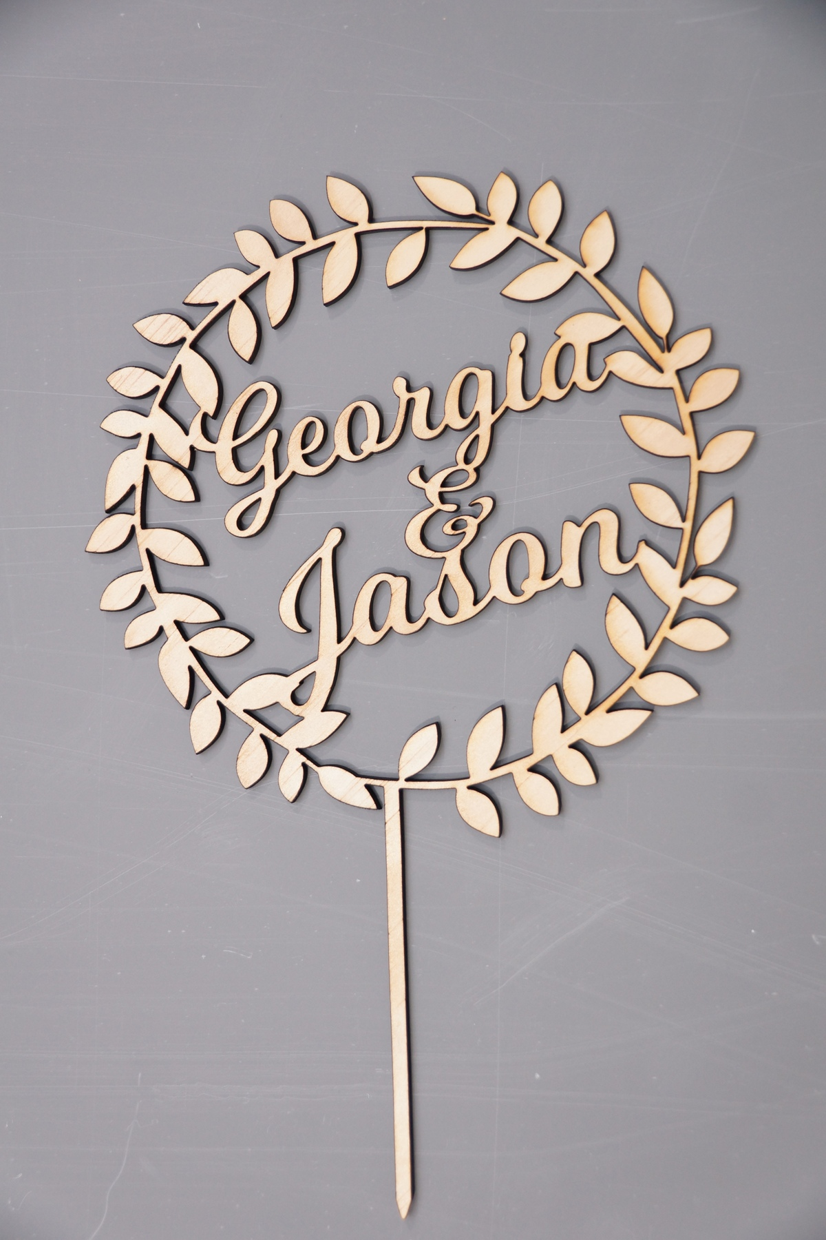 Wood Wreath Wedding topper