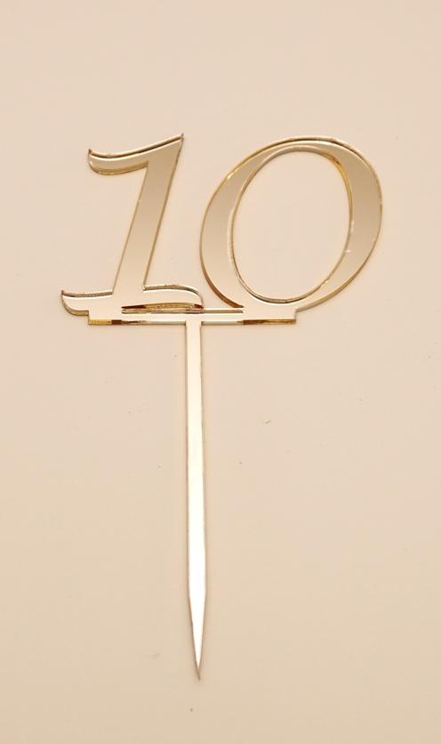 Number 10 Cake Topper