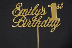 Gold MIrror Emily's 1st Birthday