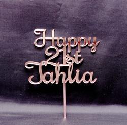 Rose Gold Happy Birthday Tahlia 2