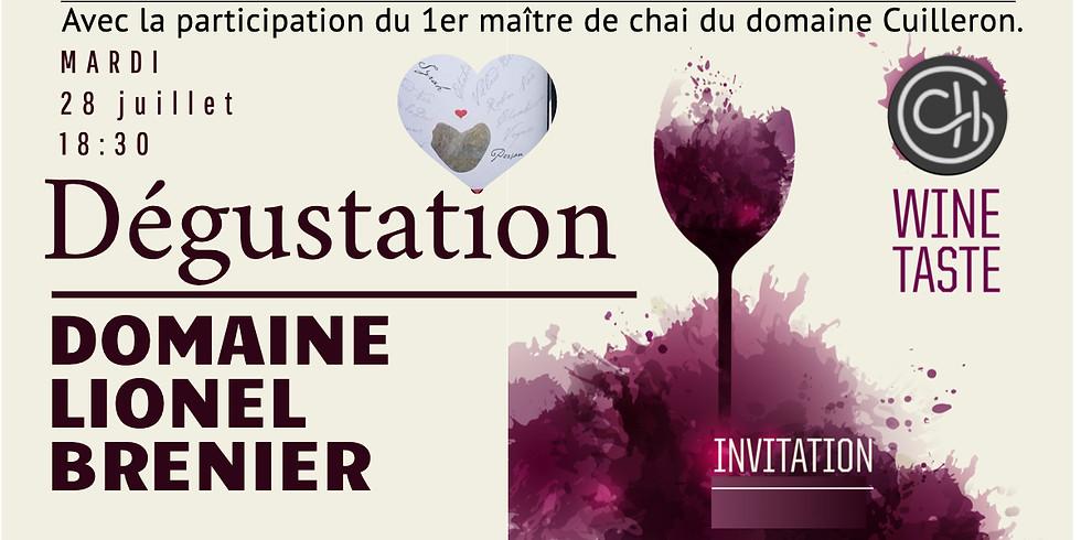 Dégustation exceptionnelle des vins du domaine Lionel Brenier