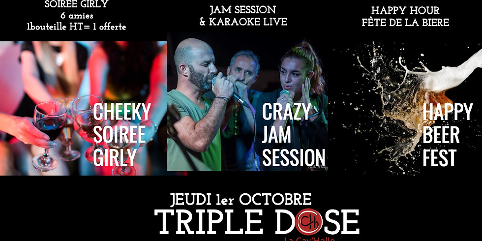Triple Dose = Beer fest + Jam session + Girls night out