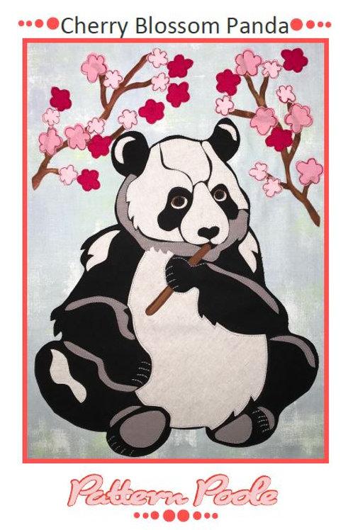 3 x Cherry Blossom Panda Applique Patterns
