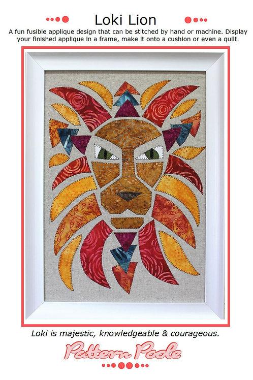 Loki Lion Print + Stitch