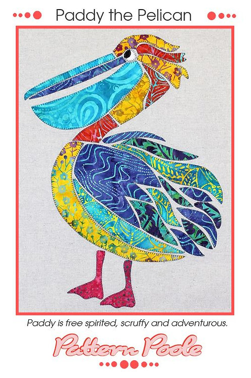 Paddy The Pelican Appliqué Pattern