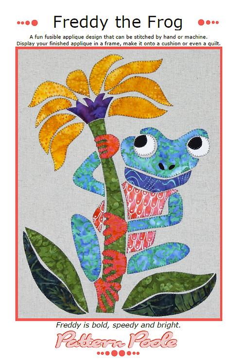 Freddy the Frog Print + Stitch