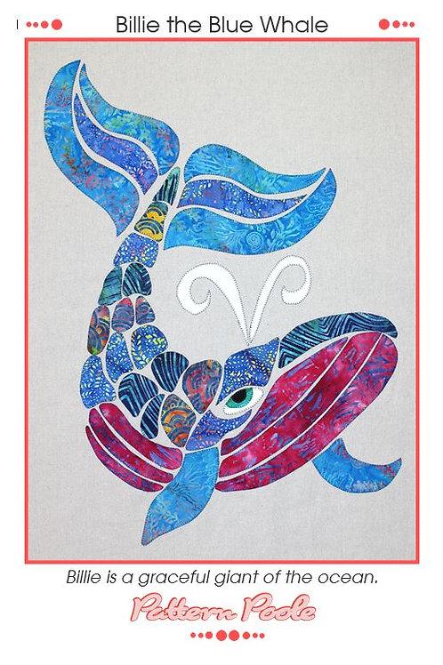 3 x Billie the Blue Whale Applique Patterns