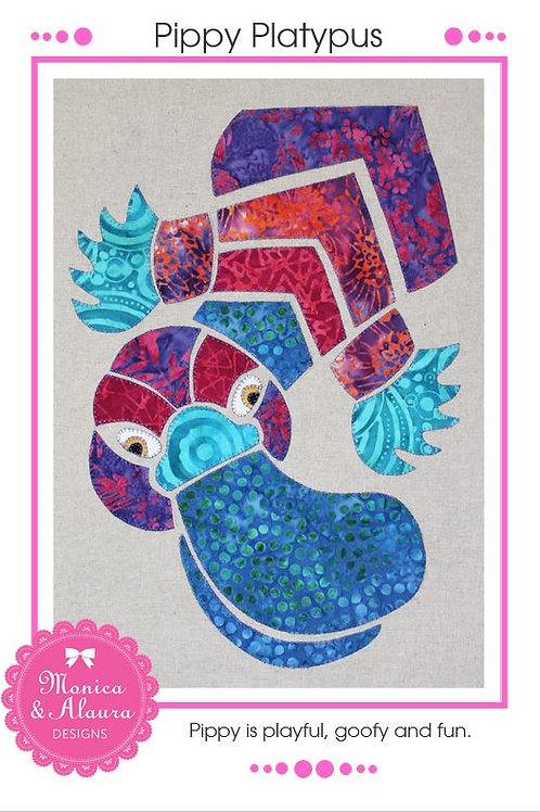 3 x Pippy Platypus Applique Patterns