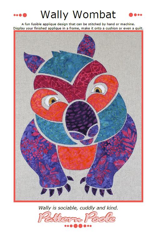 Wally Wombat Print + Stitch