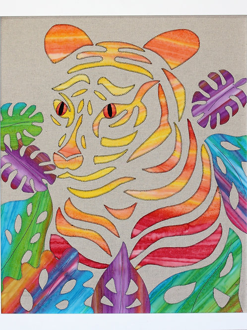 3 x Taeo Tiger Applique Patterns