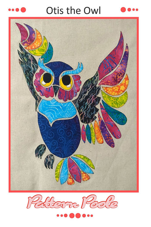 Otis the Owl Applique Pattern