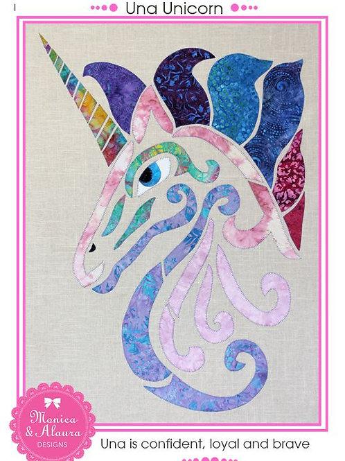 3 x Una Unicorn Applique Patterns