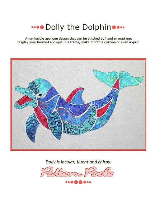 Dolly Dolphin Print + Stitch