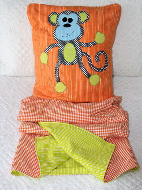 Maurice the Monkey Kiddies Quillow Pattern