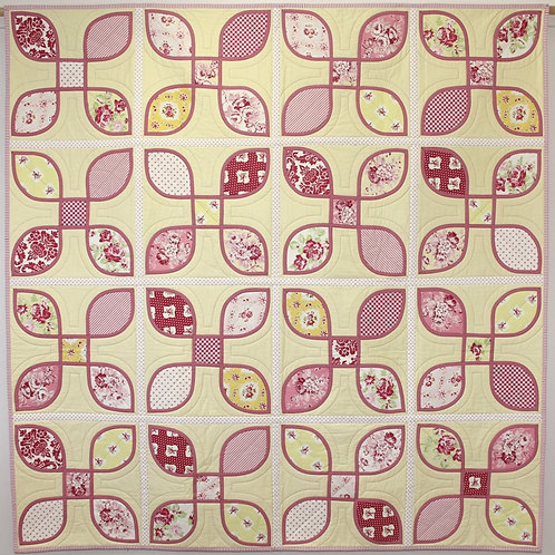 3x Petal quilt as you go pattern