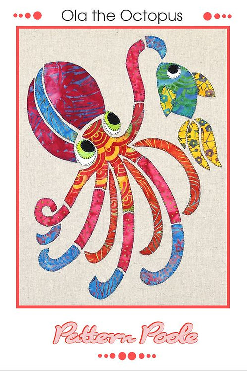 3 x Ola the Octopus Applique Patterns