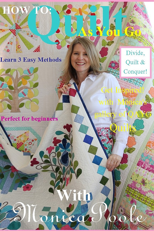 3x How to quilt as you go booklet