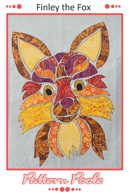 3 x Finley the Fox Applique Pattern