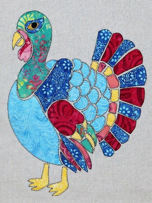 3 x Tilly the Turkey Applique Patterns