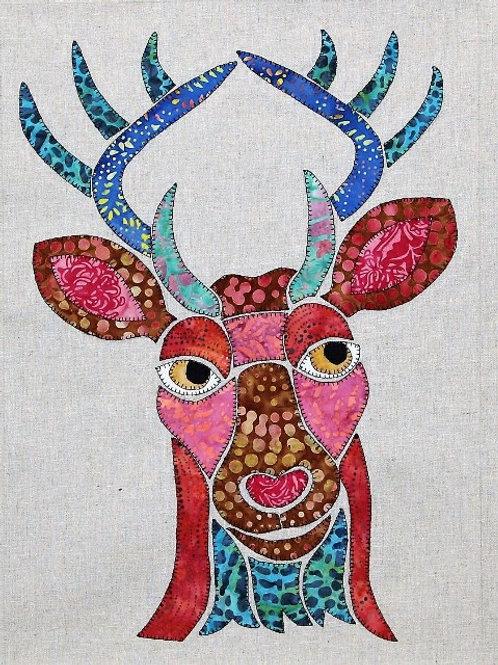 3 x Derick the Deer Applique Patterns