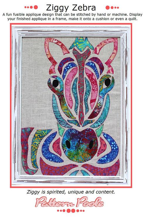 Ziggy Zebra Print + Stitch