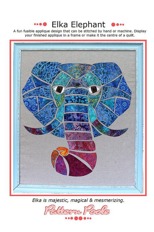 Elka Elephant Print + Stitch