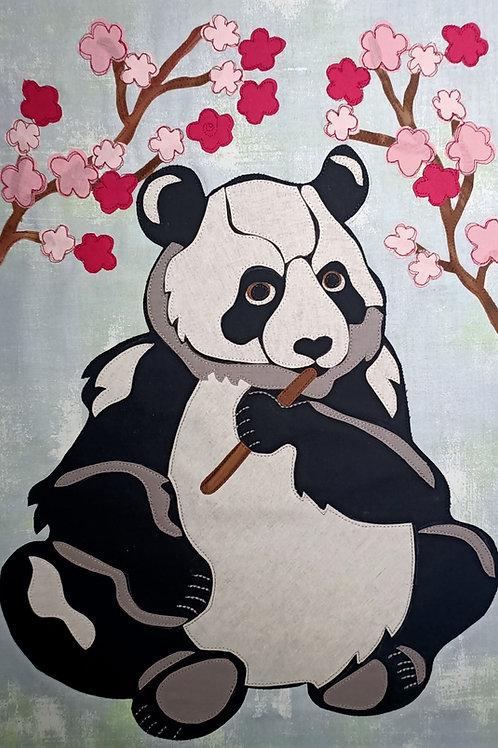 Cherry Blossom Panda Print +Stitch PDF Pattern