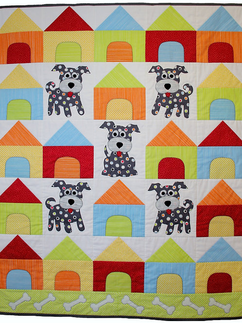 3x Spot the Dog Cot Quilt and Cushion Set