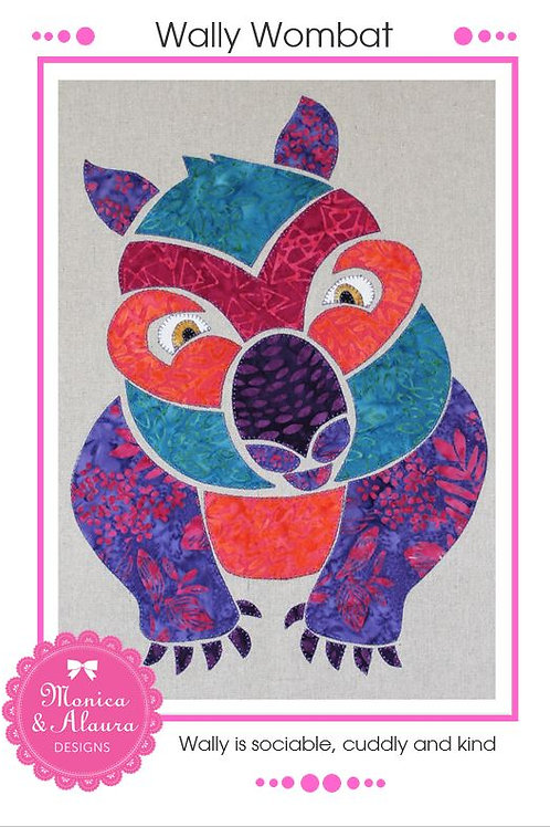 Wally Wombat Applique Pattern