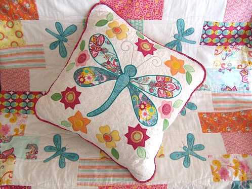 Dragonfly Quilt and Cushion Set