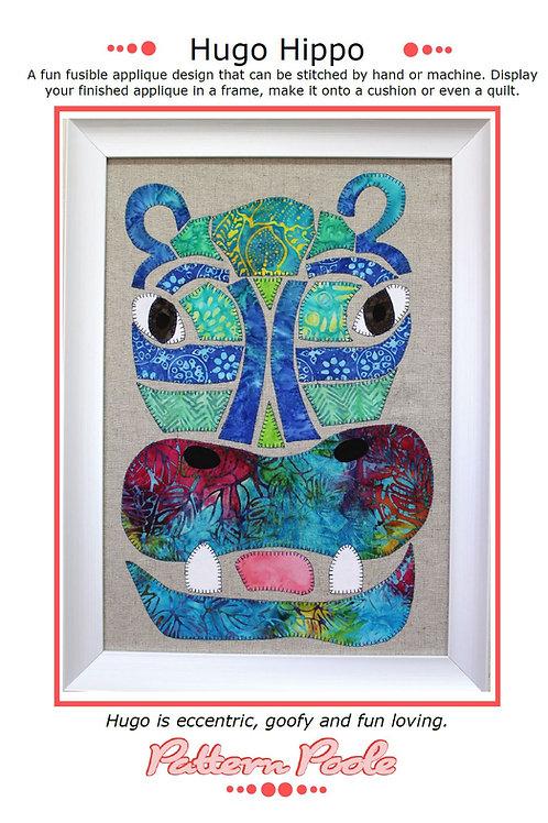 Hugo Hippo Print + Stitch