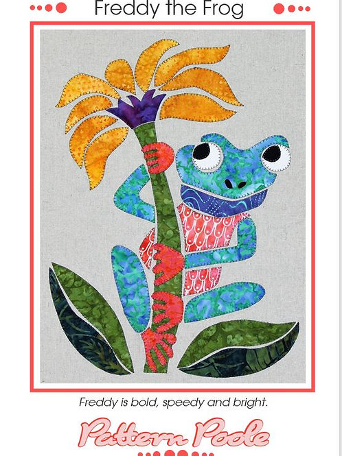 3 x Freddy the Frog Applique Patterns