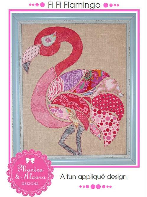 3 x Fi Fi Flamingo Applique Patterns