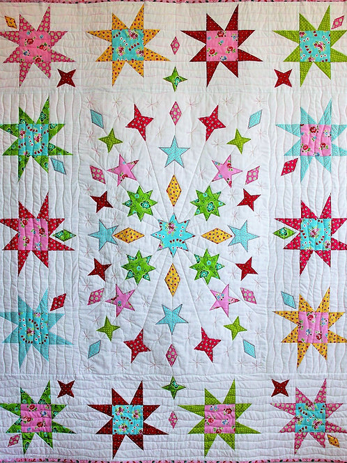 Star Struck Quilt As You Go PDF Pattern
