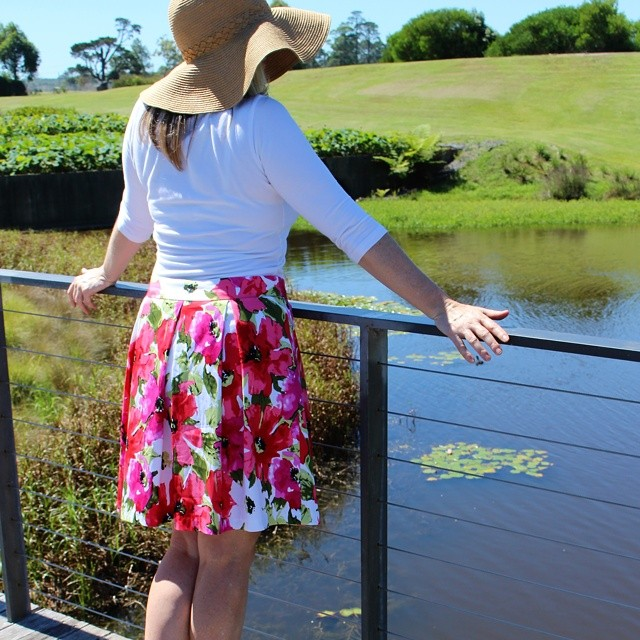My new Sweet Pleat Skirt pattern