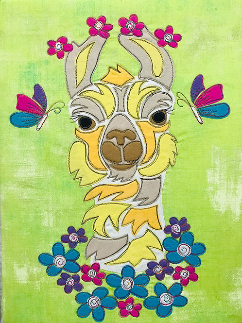 Lucy the Llama Applique Pattern