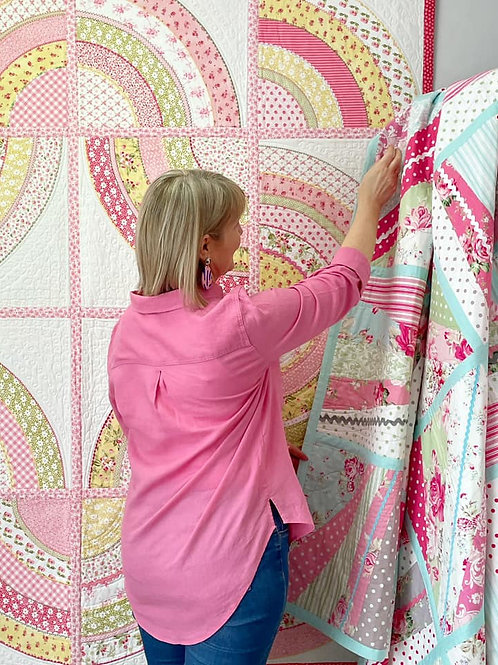 QUILT AS YOU GO. EASY COVER STRIP METHOD. EBOOK