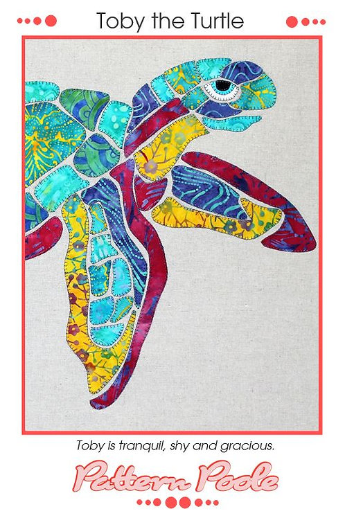 3x Toby The Turtle Applique Patterns
