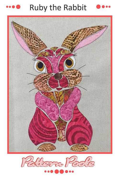 Ruby the Rabbit Applique Pattern
