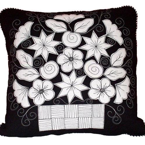 Sketchy Flowers Cushion PDF Pattern