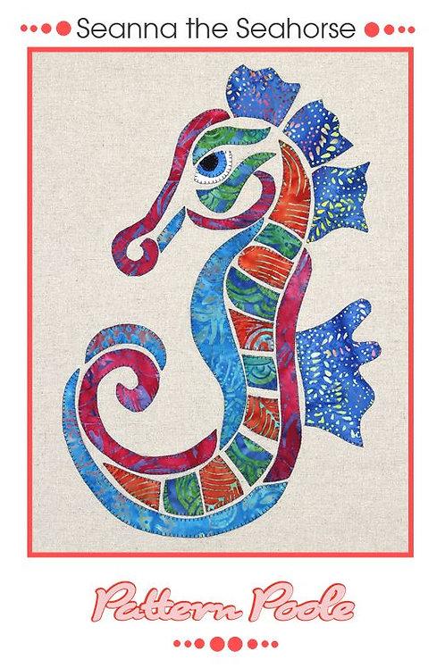 3 x Seanna the Seahorse Applique Patterns