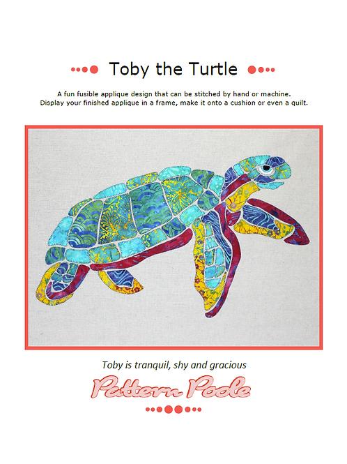Toby Turtle Print + Stitch
